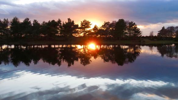Hatchet Pond sunset 6